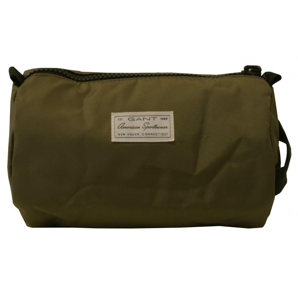 e193c5132ff Gant Original Wash Bag, Olive Green | Gant men's washbags | UnderU