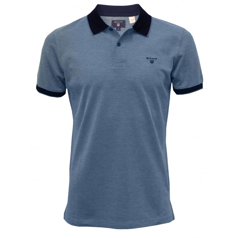 7118fd4a6b2 Gant Oxford Pique Polo Shirt, Blue | Gant polo shirts | UnderU