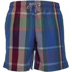 Plaid Print Swim Shorts