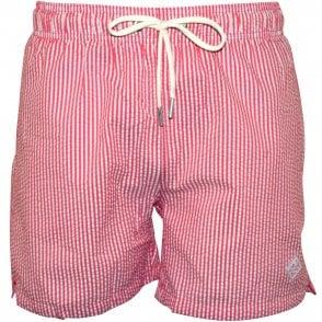 a88d94966 Gant Breton Stripe Classic Swim Shorts, Navy   UnderU