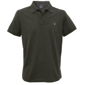 Solid Pique Polo Shirt, Dark Anthracite Melange