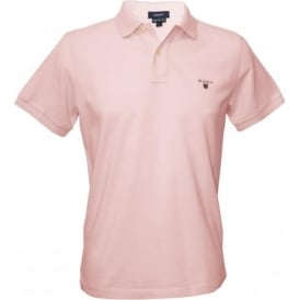 Solid Pique Polo Shirt, Light Pink
