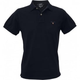 Solid Pique Polo Shirt, Navy