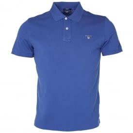 Solid Pique Polo Shirt, Royal Blue