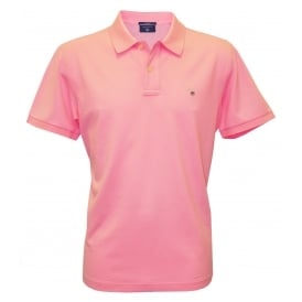 Solid Pique Polo Shirt, Soft Rose