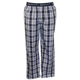 Woven Checked Pyjama Bottoms, Blue/Navy