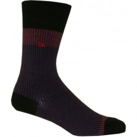 Giza Jacquard Socks, Purple