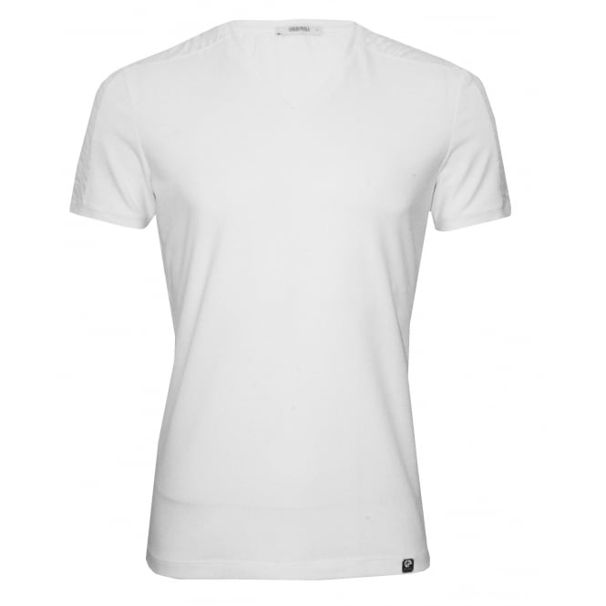 Grigio Perla Rumba X-Fine Cotton V-Neck T-Shirt, White