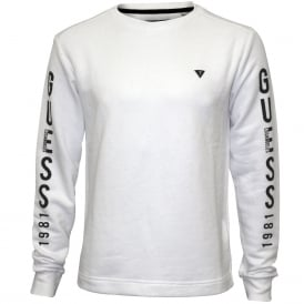 Logo Fleece Sweatshirt, Optic White