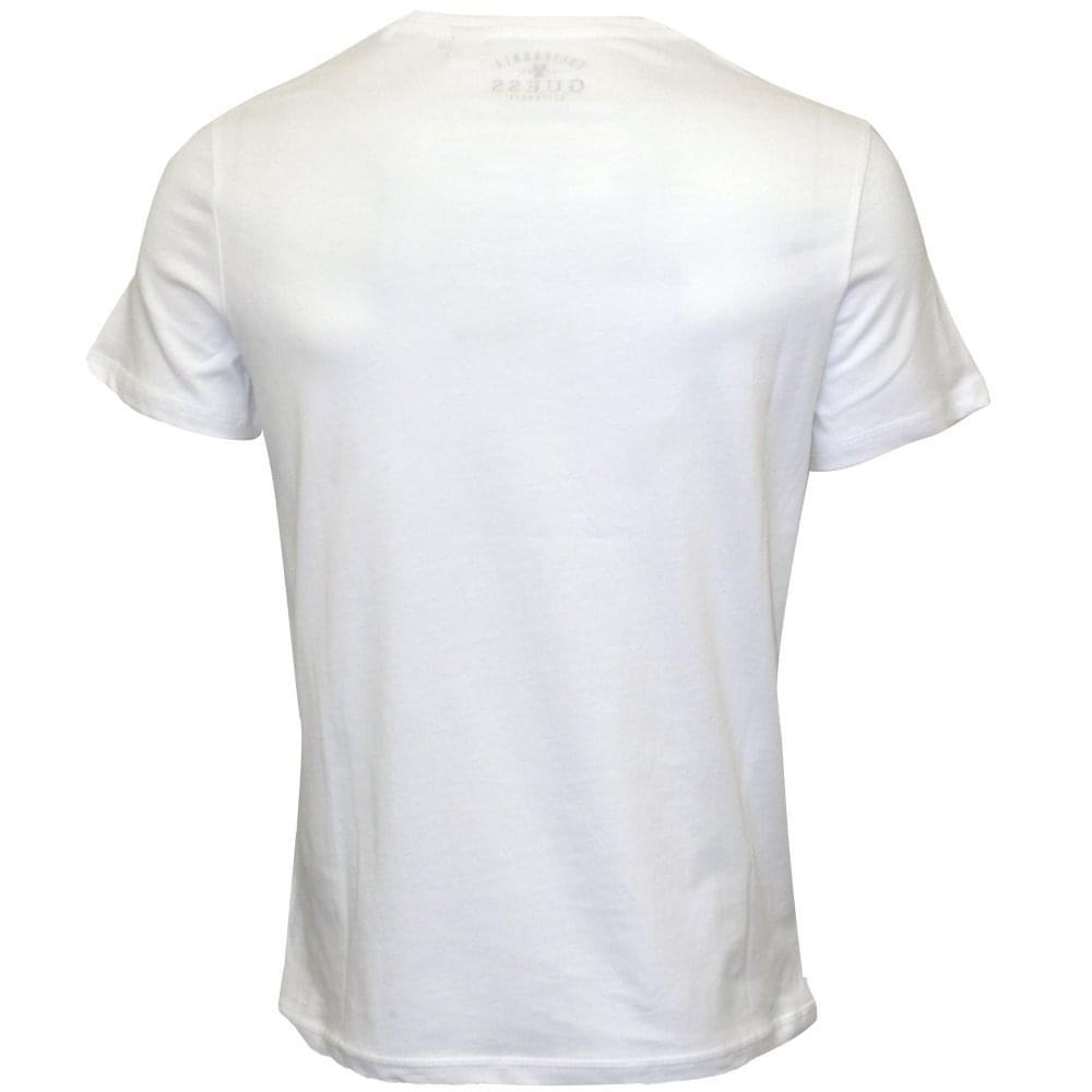 f35615c2 Guess Retro Logo Crew-Neck T-Shirt, White | UnderU