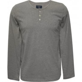 Henley Long-Sleeve T-Shirt, Grey