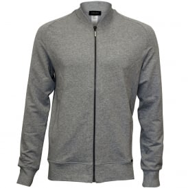 Living Luxe French Terry Zipped Jacket, Grey Melange