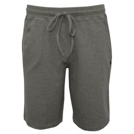 Luis Cuffed Jersey Lounge Shorts, Melange Grey