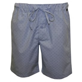 Night & Day Mini Check Lounge Shorts, Blue