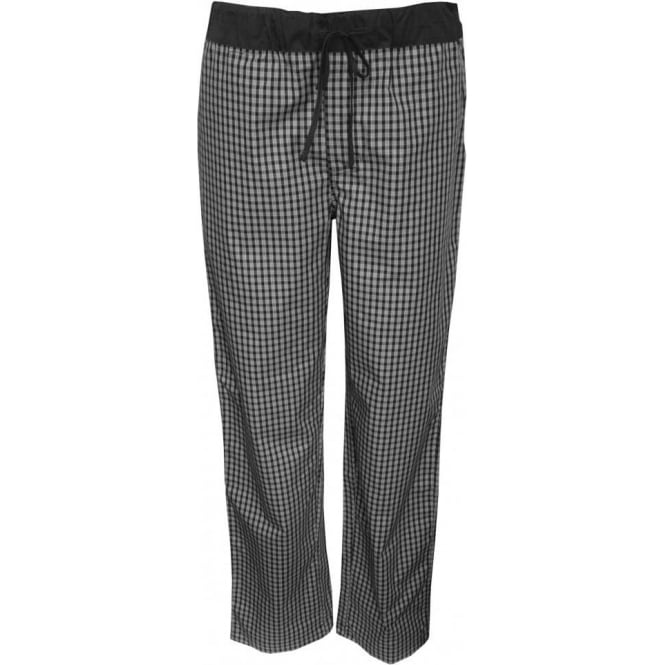 Hanro Night & Day Woven Lounge Pants, Black Check