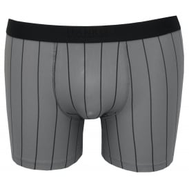 Shadow Fine Stripe Boxer Brief, Iris Grey