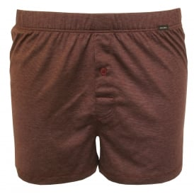 Sporty Stripe Boxer Short, Burgundy