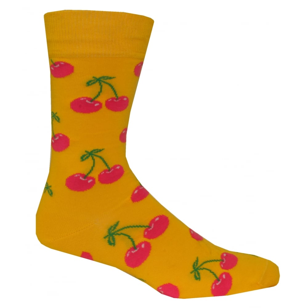 Happy Socks 4 Pack Cherry Pineapple Roses Palm Socks Gift Pack