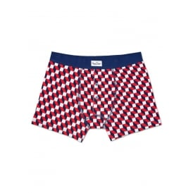 Filled Optic Boxer Brief, Navy/White/Red