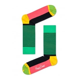Half Stripe Socks, Green/Jamaican