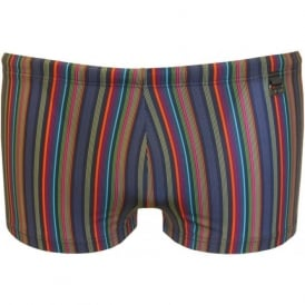 Beach Fun 'Cap Corse' Fine Stripe Swimming Trunk, Multi/Blue