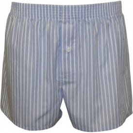 Business 'New York' Stripe Woven Boxer Shorts, Blue/White