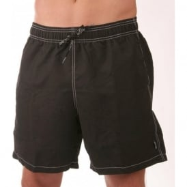 Delta Long Swim Boxers, Black