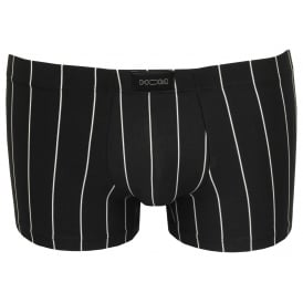 Elegant Pin Stripe Boxer Trunk, Black