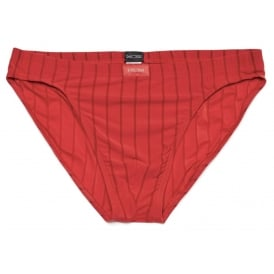 For Him Comfort Ribbed Micro Brief, Red