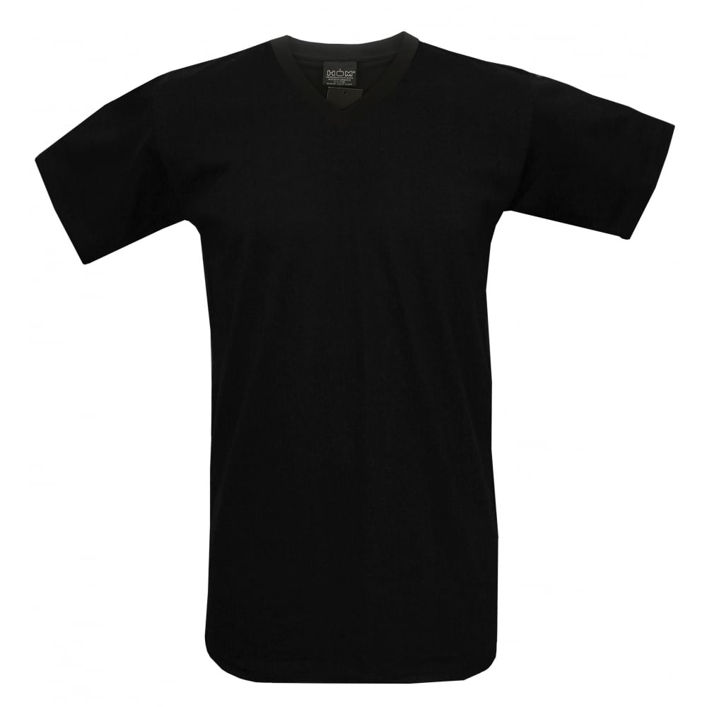 Hom hilary v neck t shirt black underu V neck black t shirt