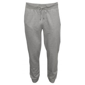 Laurent Brushed Cotton Jogging Bottoms, Marl Grey