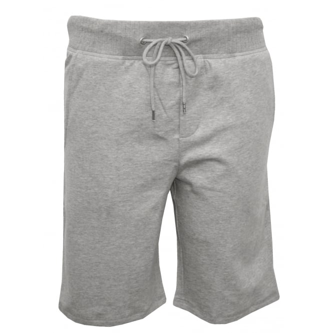HOM Laurent Brushed Cotton Tracksuit Shorts, Grey