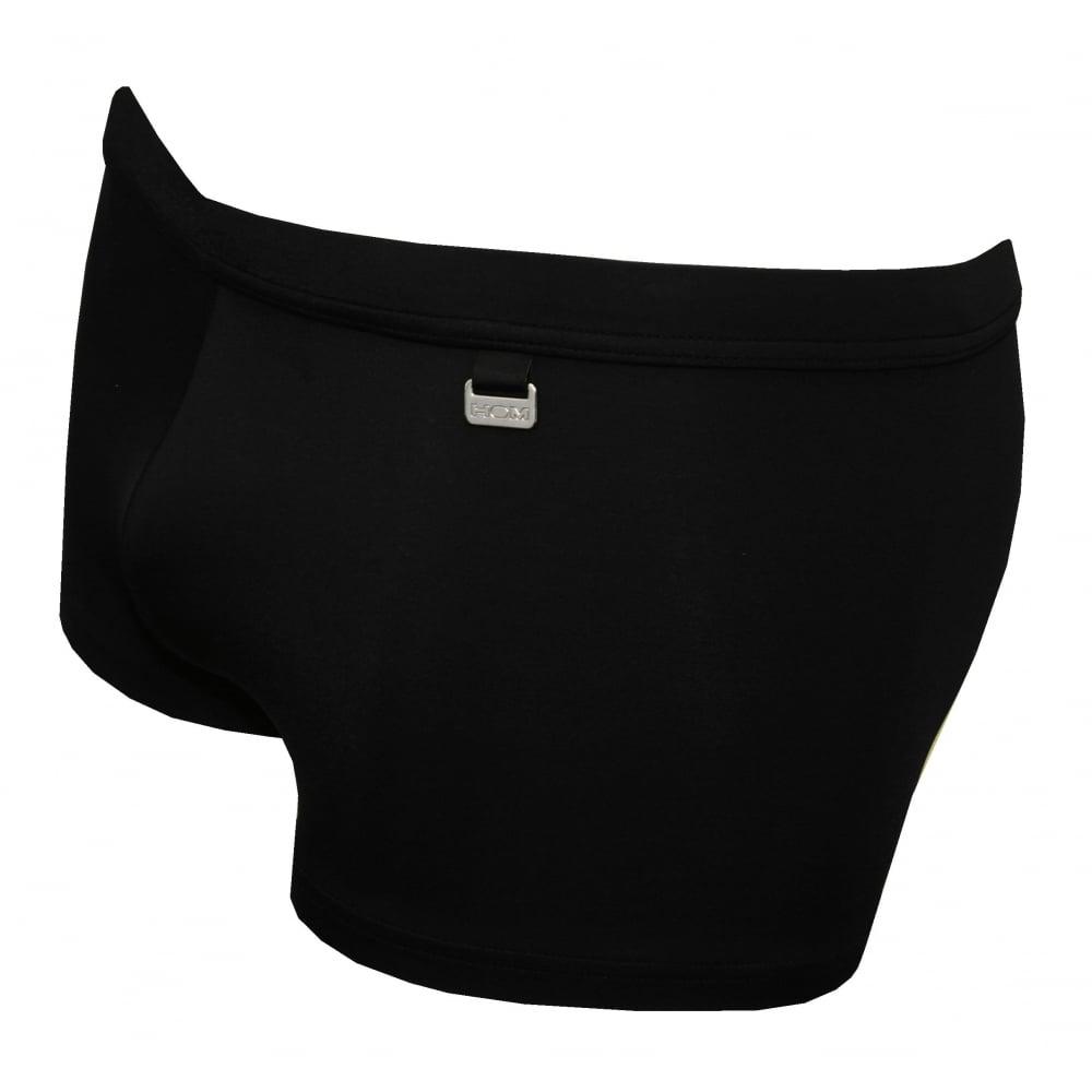 fd096afca1 HOM Marina Lycra Swim Trunk, Black | HOM swim trunks | UnderU