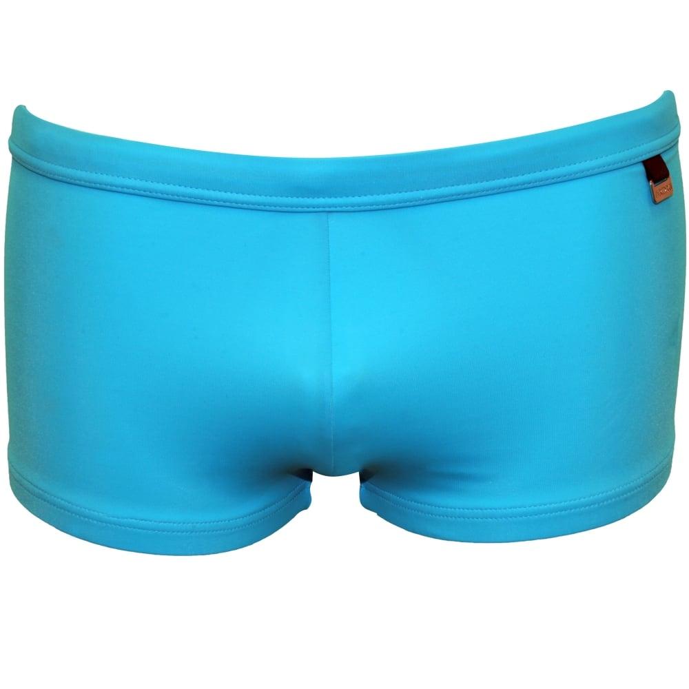 2e8180a210 HOM Marina Lycra Swim Trunk, Turquoise Blue | HOM swim trunks | UnderU