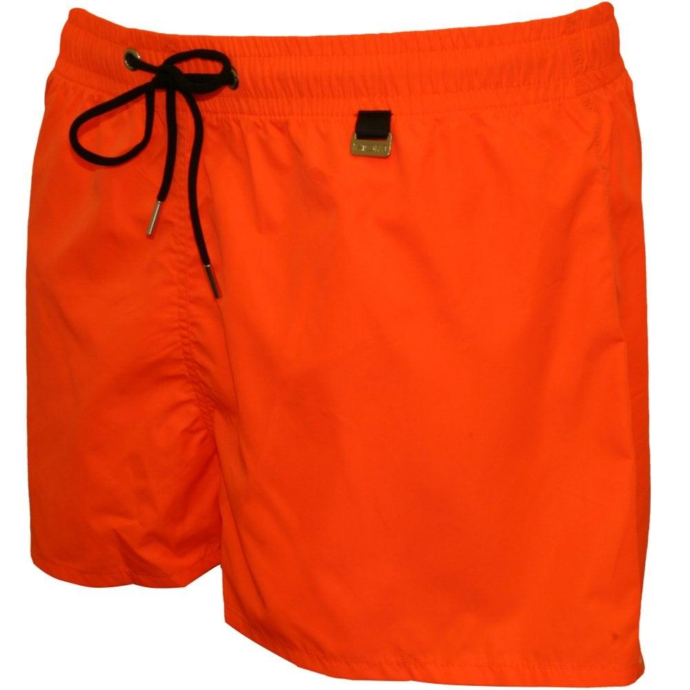 ea7bd24caf HOM Men's Swimwear   Marine Swim Shorts, Orange   UnderU