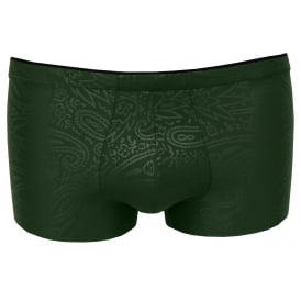 Mosaic Push-Up Comfort Boxer Trunk, Regency Green