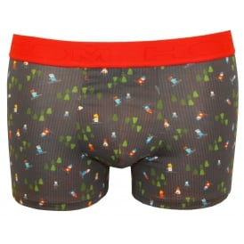 Xmas Geek Pin Stripe Boxer Trunk, Navy/red