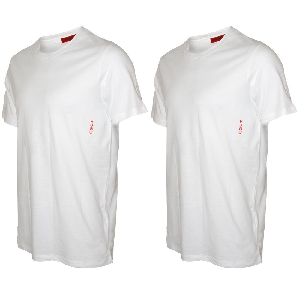 official site cheapest price on feet shots of 2-Pack Side Logo Crew-Neck T-Shirts, White