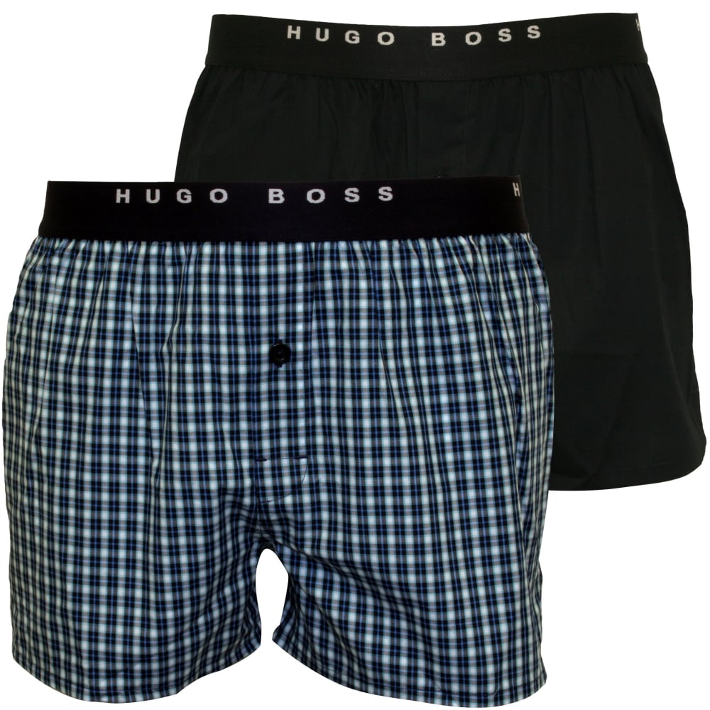 BOSS 2 PACK - Boxer - dark blue MMQ5sBUXaK