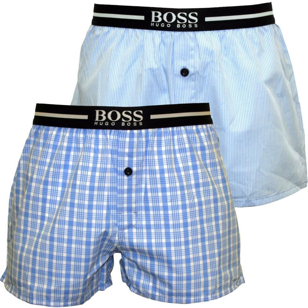 BOSS 2 PACK - Boxer - blue j2Uv5bT4ur