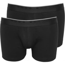 2-Pack Premium Boxer Trunks, Black