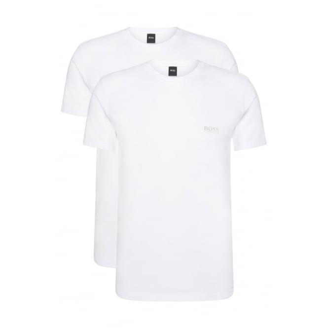 Hugo Boss 2-Pack Regular-Fit Crew-Neck T-Shirts in Stretch Cotton, White