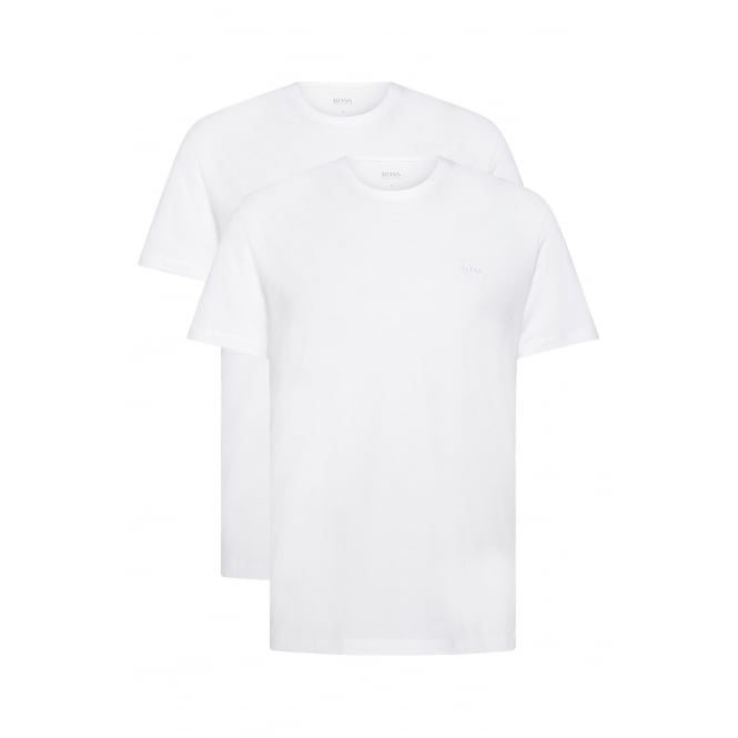 Hugo Boss 2-Pack Relaxed-Fit Crew-Neck T-Shirts, White