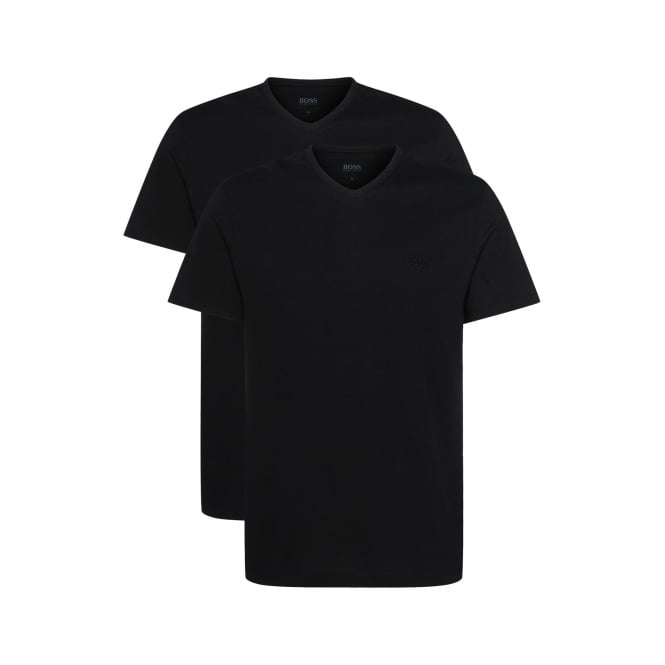 Hugo Boss 2-Pack Relaxed-Fit V-Neck T-Shirts, Black