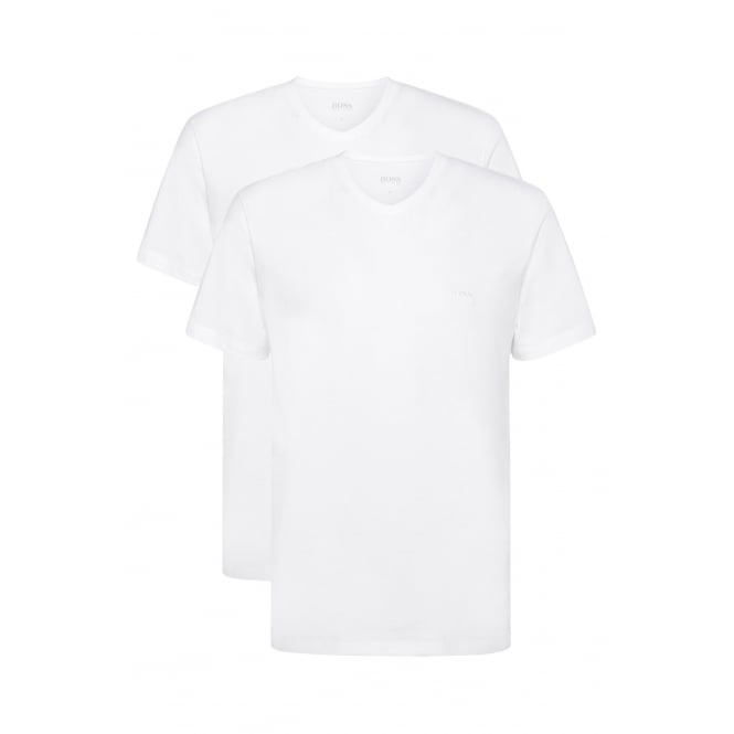 Hugo Boss 2-Pack Relaxed-Fit V-Neck T-Shirts, White