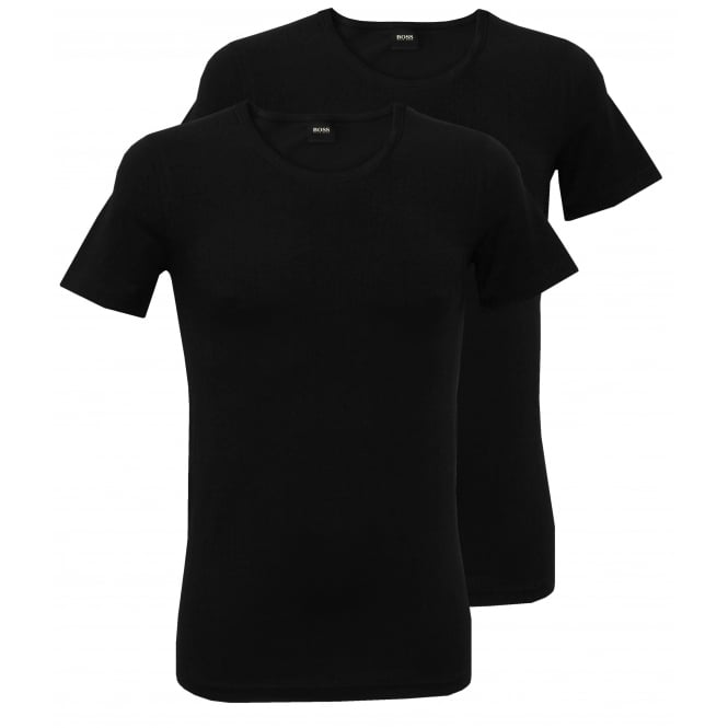 Hugo Boss 2-Pack Slim-Fit Crew-Neck T-Shirts, Black