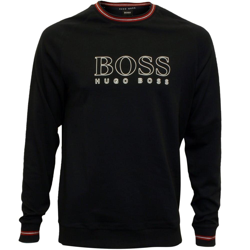 8aaf08889 Hugo Boss Authentic Logo Sweatshirt, Navy w/red detail | UnderU