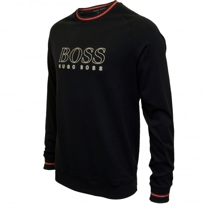 c6b6a00ce Hugo Boss Authentic Logo Sweatshirt, Navy w/red detail | UnderU
