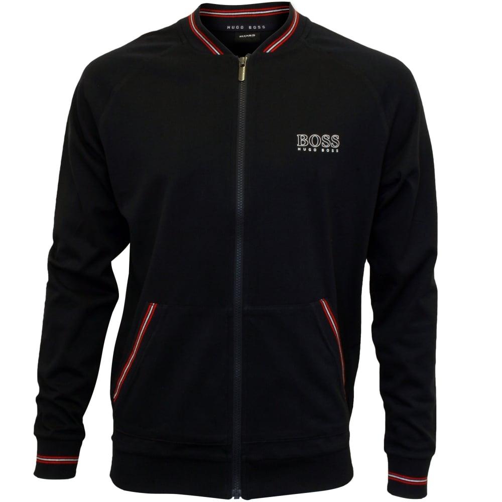 c6dfefc9 Hugo Boss Authentic Zip Tracksuit Jacket, Navy w/red stripes | UnderU