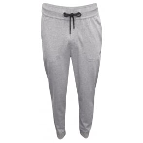 Brushed-Cotton Cuffed Tracksuit Bottoms, Grey
